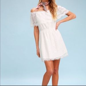 BB Dakota white off the shoulder dress